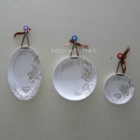 Ceramic Wall Plate Décor - Set 3 T08.016-S